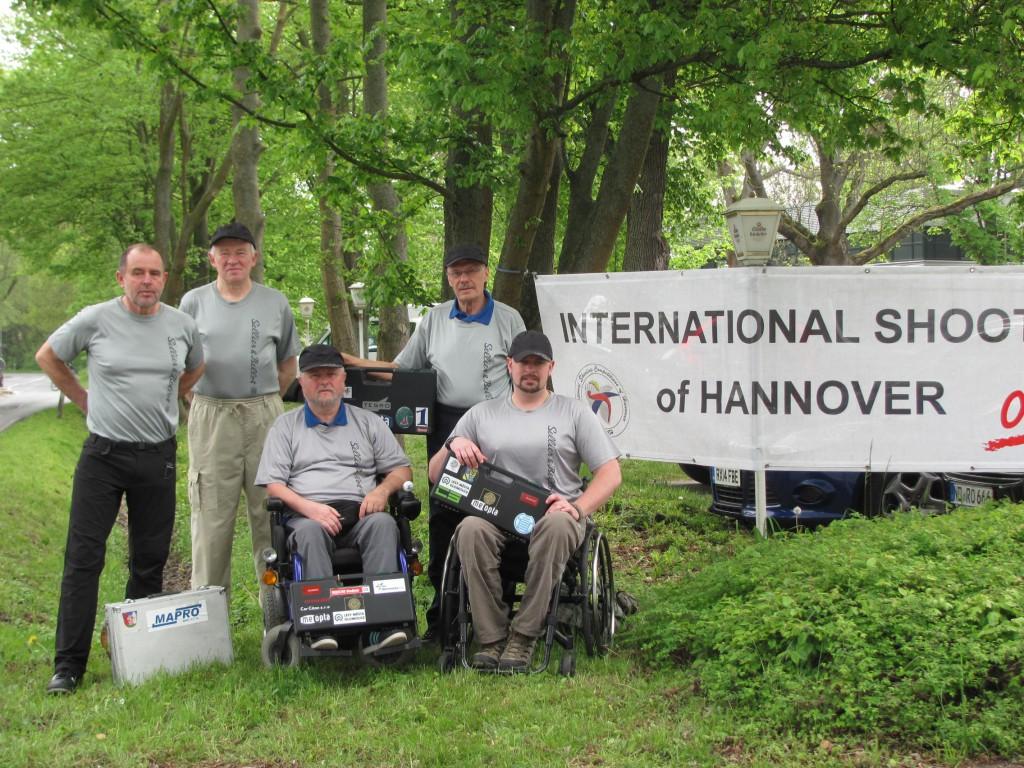 Hannover střelci s trenérem