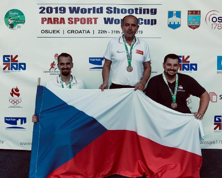 P3 střelba medaile Osijek TEAM